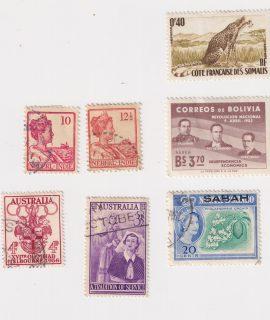 Lot of 7 Vintage postage Stamp