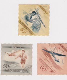 Lot of 3 Hungary Postage Stamps, Magyar Posta - Hungary aerospace series