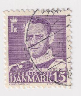 Kongelig Post Danmark Postage Stamp, 15 ore
