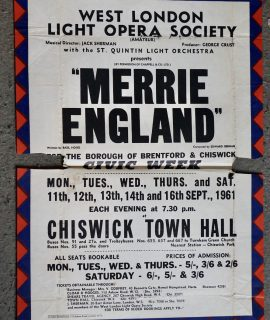 Original vintage advertising poster, Merrie England, 1961