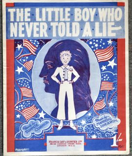 Vintage Sheet Music, The Little Boy Who Never Told a Lie