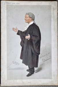 Antique Print from Vanity Fair, George Elliott, with autograph