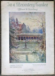 In A Monastery Garden Sheet Music by Albert W Ketelbey, 1915