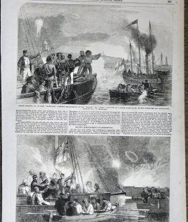 Antique Print, Captain Glasse...; Captain Hewlett, 1856