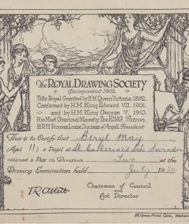 The Royal Drawing Society, Certificate, 1924
