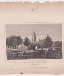 Antique Engraving Print, Stratford-Upon-Avon, 1840