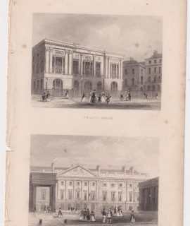 Antique Engraving Print, Trinity House; The Mint, 1851