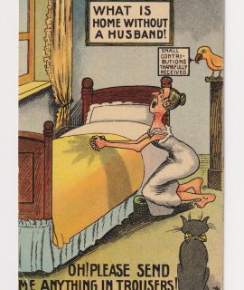 Vintage Postcard, Oh! Please send me anything in trousers! 1919