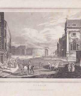 Antique Engraving Print, Dublin, 1815