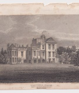 Antique Engraving Print, Holywell House, 1803