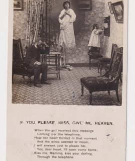 Vintage Postcard, If you please, miss, give me heaven, 1907 ca.