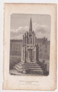 Antique Engraving Print, Leighton Braudesert Cross, 1801