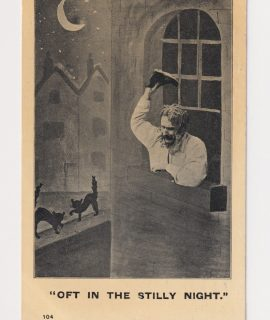 Vintage Postcard, Oft in the stilly night, 1907