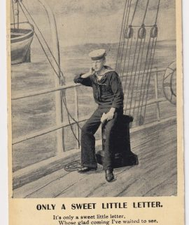 Vintage Postcard, Only a sweet little letter, 1907