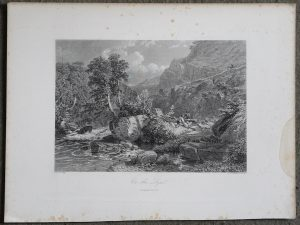 Antique Engraving Print, On the Lynn, 1876