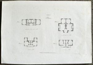 Antique Engraving Print, Plans, 1793