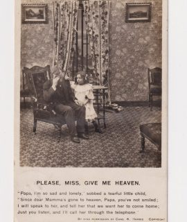 Vintage Postcard, Please, Miss, give me heaven, 1907