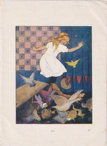 Vintage Print, Alice in Wonderland, 1910 ca.