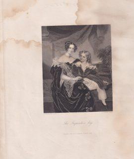 Antique Engraving Print, The Inquisitive boy, 1846