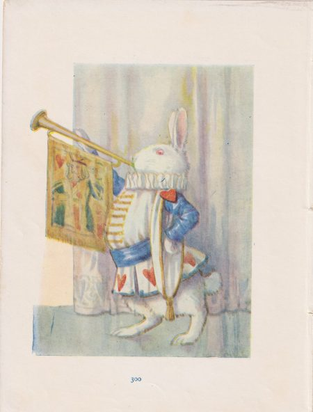 Vintage Print, The White Rabbit, 1910 ca.