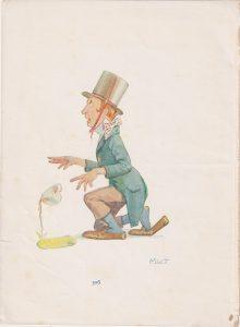 Vintage Print, The Mad Hatter, 1910 ca.