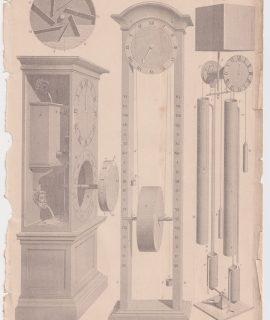 Antique Print, Hydraulics, 1870
