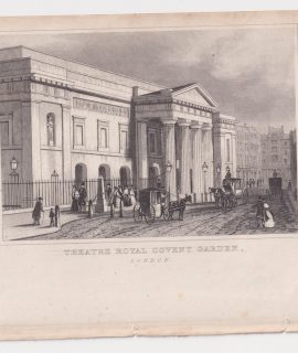 Antique Engraving Print, Theatre Royal Covent Garden, London, 1830 ca.