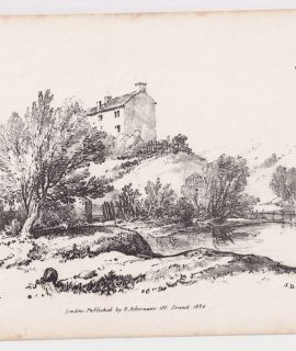Antique Print, Landscape, J.D.H., 1824