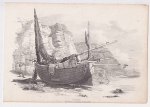 Antique Print, Hastings, 1833