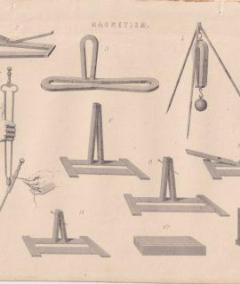 Antique Print, Magnetism, 1880