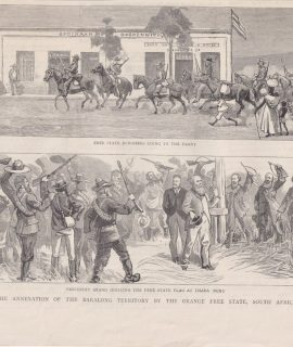 Antique Print, The Annexation of the Baralong Territory... South Africa, 1880 ca.