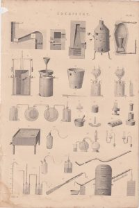 Antique Print, Chemistry, 1880