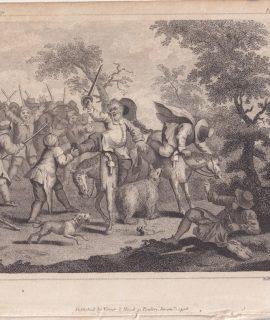 Antique Engraving Print, Ridley sculp., 1708