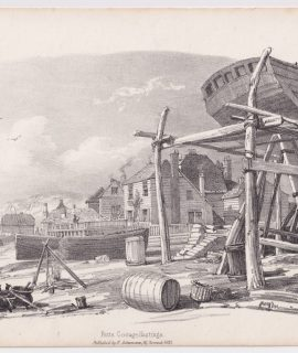 Antique Print, Futts Cottage, Hastings, 1833