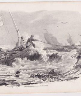"""Antique Print, """"Hastings 1832"""", 1833"""