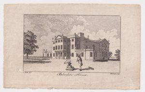 Antique Engraving Print, Belvedere House, 1770