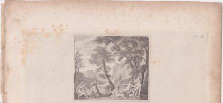 Antique Engraving Print, A. Carracci, 1820