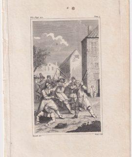 Antique Engraving Print, 1798