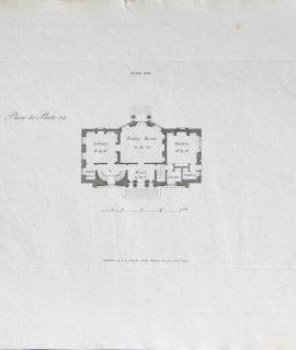 Antique Engraving Print, Plan to Plate 34, London, 1793