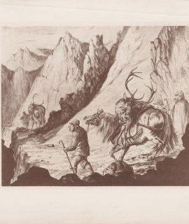 Vintage Print, Hunting, 1890