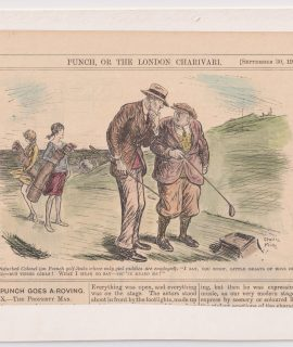 Vintage Print, Golf, from Punch, 1929