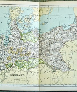 Vintage Map, Empire of Germany, 1901