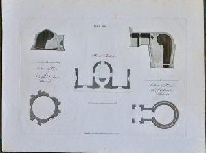 Antique Engraving Plan, Castello d'Aqua; Ice House, 1793