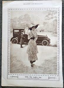 "Vintage Print, ""1914: My Lady's Car"", 1915"