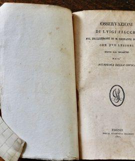 Osservazioni di Luigi Fiacchi sul Decamerone di M. Giovanni Boccaccio, 1821