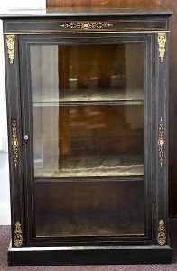 Antique Original Victorian Marquetry Cabinet