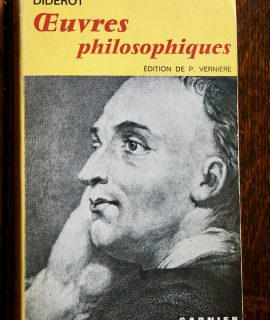 Diderot, Oeuvres Philosophiques, Garnier, 1972