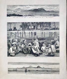 Antique Print, Puppet-Show..., 1881