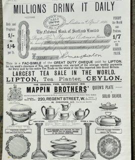 Antique Print, Advertising, 1894