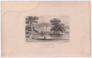 Antique Engraving Print, Strathfieldsay, Hampshire, 1830
